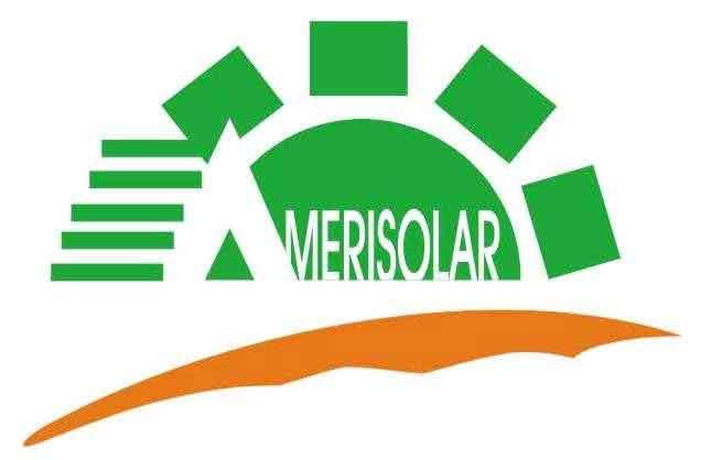 Logo Amerisolar figura sol color verde